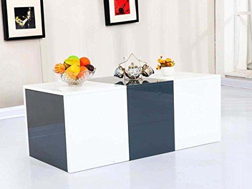 Habitat et Jardin - Table Basse Bina - 115 x 55 x 45 cm - Blanc laqué