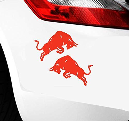 A Auto Aufkleber 15x10 Cm Springen Bull Cow Red Auto Aufkleber Aufkleber Motorrad Zubehör Aufkleber Für Auto Laptop Fenster Aufkleber