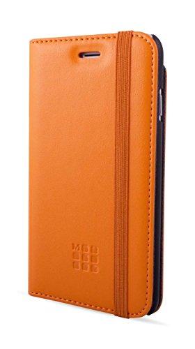 Moleskine Debossed Logo klassische Booktype Schutzhülle für Apple iPhone 6 Plus/6S Plus (Tasche für Karten) orange orange