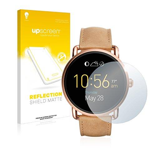 upscreen Entspiegelungs-Schutzfolie kompatibel mit Fossil Q Wander 2.0 - Anti-Reflex Bildschirmschutz-Folie Matt