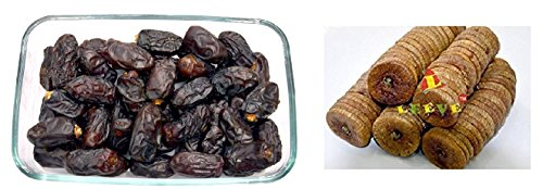 Leeve Combo Pack Of 2 Dry Fruits (dried Figs 200gm And Dates 200gms), 400gms