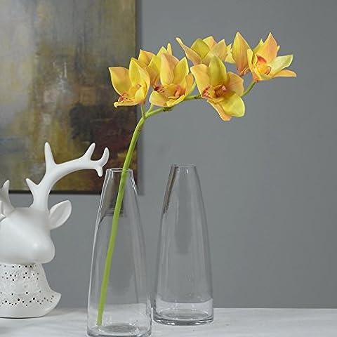 1pcs artificielles orchidées Cymbidium 7têtes Cattleya Hybrida Orchidée Fleurs pour