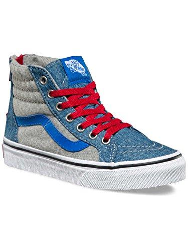 Vans - Uy Sk8-hi Zip, Sneaker alte Bambino (jersey-denim) Imperial Blue/true White
