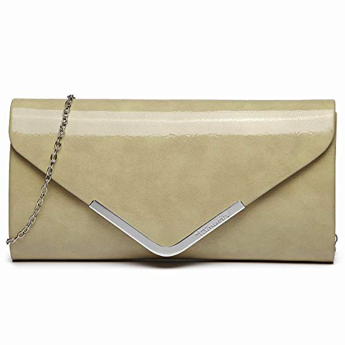Tamaris Damen Brianna Clutch, Beige (pepper), 5x12x26 cm