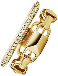 Michael Kors Damen-Ring 925er Silber 55, gold