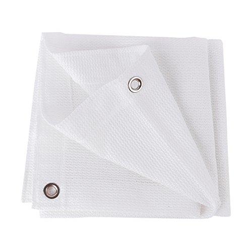 Frilivin Sonnensegel Rechteckig Sonnenschutz Garten UV Schutz Premium Schatten Tuch Markisen Weiß (1.5x2m)