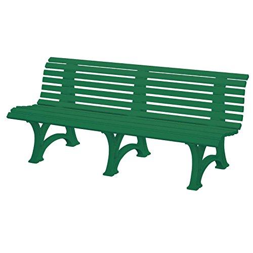 Gartenbank BORKUM grün, 4-Sitzer, Kunststoff, Breite: 200 cm