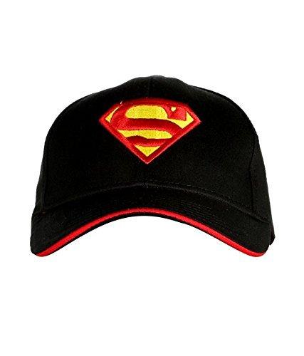 Krystle Superman Caps black cap/Baseball Cap/hip hop Cap Snapback Caps cotton cap trucker hat dad caps Cap  available at amazon for Rs.215