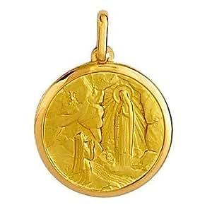 Médaille Or 6,5 gr Sainte Bernadette 18 carats