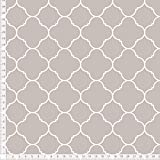 Stoff mit marokkanischem Muster in Grau-Braun zum Nähen