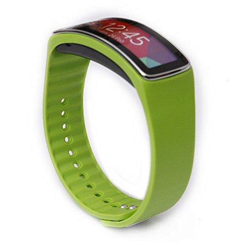 Greatfine Correa de muneca para Galaxy Gear fit R350 SmartWatch accesorios de munequera para reemplazo de bandas de reloj (Grass