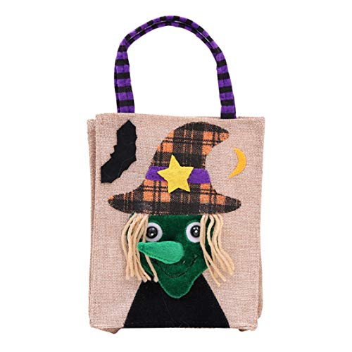 happy event Baby Mädchen Jungen Karikatur Lustig Gruselige Halloween Betteltasche | Hexen Kürbis Speicher Süßigkeit Tasche | Halloween Pumpkin Cartoon Candy Bags (D)