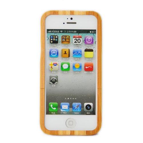 SunSmart Einzigartige handgefertigte Bambus harten Holz Case für das iPhone 5 5S (ein Stück) stripe