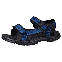 Mountain Warehouse Crete Mens Sandals - Durable Summer Shoes, Sturdy Grip, Cushioned Footbed, Neoprene Lined, Hook & Loop Straps Beach Shoes - for Winter Travel, Walking
