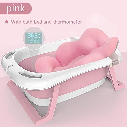 Bañera inteligente con sensor de temperatura para niños cama de baño para niños aumento de suministros...