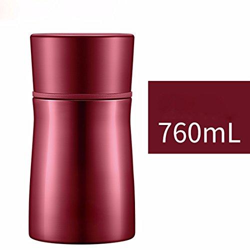 MDRW-Verstopfte Becher, hohe Kapazität, schwelende Wasserkocher, Edelstahl, schwelende tank,Roten 760ML