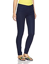 Van Heusen Womens Slim Fit Jeans (VWDN317L009269_Blue_28)