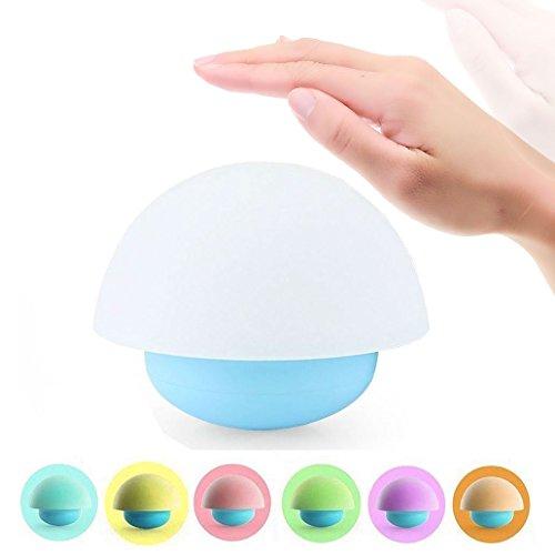Bestfire Tumblr Mushroom Design Colorful Night Light Capteur Tactile Dimmable Veilleuses LED Avec Softlight, Stronglight et 7 Lumière Colorée Le Meilleur Cadeau pour la Chambre de Bébé, Chambre, Nursery Extérieure (Bleu)