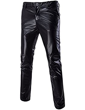 Choose Men's Schlanke Straight Bein Leger Flache Vordere Hosen