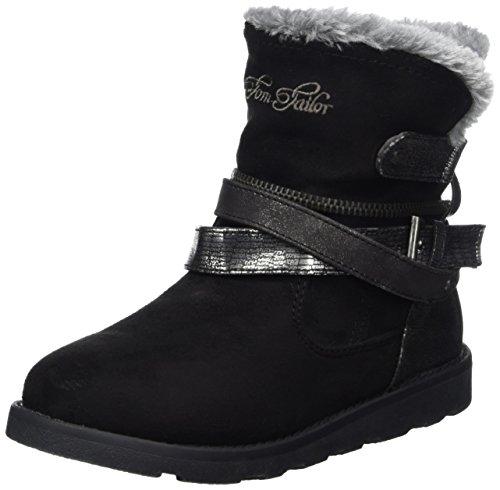Tom Tailor Mädchen 3770204 Stiefel, Schwarz (Black), 33 EU (Schwarze Stiefel Für Mädchen)