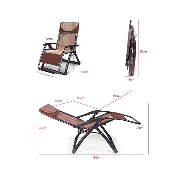 LYATW Patio Rocking Chair Zero Gravity Chair Outdoor Folding Recliner Foldable Lounge Chair Outdoor Pool Chair for Patio, Poolside and Camping LYATW Folding chair: 40mm thick supporting steel pipe, bearing capacity greater than 200kg.90 degrees to 170 degrees can be adjusted freely to meet your various needs. Made of high quality fabric: comfortable, breathable, cool and waterproof. Anti-rust, anti-corrosion, environmentally friendly paint, durable and environmentally friendly. Easy to use: It can be adjusted when lying down, get up for 1 second, and lie down for 1 second. Folded design for easy storage and space saving. 2