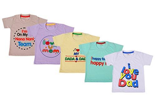 Kuchipoo Family Theme Baby T-Shirts, Pack of 5
