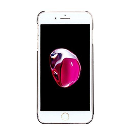 Hülle für iPhone 7 plus , Schutzhülle Für iPhone 7 Plus PU-Leder Schutzmaßnahmen Schutzhülle ,hülle für iPhone 7 plus , case for iphone 7 plus ( Color : Gold ) Black