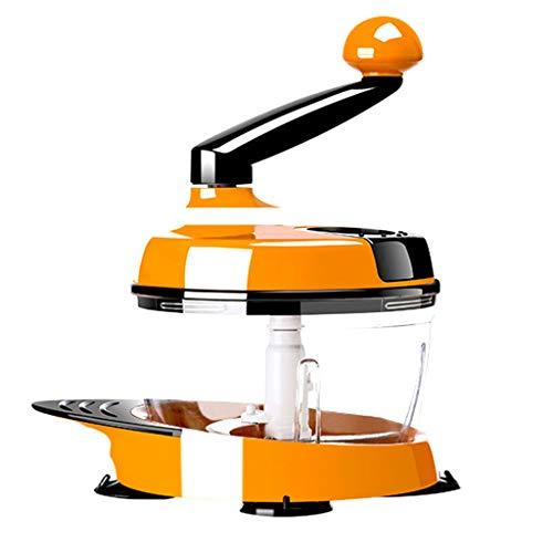 ELECTROPRIME Manual Hand Crank Food Processor Chopper Grinder Maker Mixer Blender Orange