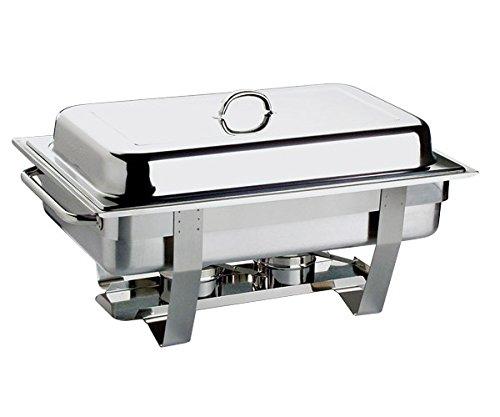 """Chafing Dish """"CHEF"""" aus Edelstahl inkl. GN 1/1 Behälter, stapelbar & spülmaschinengeeignet / 61 x 31 x 30 cm, Inhalt: 9 ltr.   SUN"""