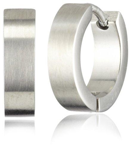 Pure Grey Unisex-Creolen Titan 12 mm 4872