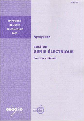 Agrgation section Gnie lectrique : Concours interne
