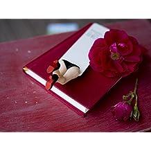 Cabaret Signet dans Louboutin noire chaussures fait main Cadeaux. ehrfürchtiges cadeau pour les amateurs de Livre et lecteur de livre. Louboutin livre Marqueur Collectibles cadeau pour vous.