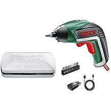 Bosch Visseuse sans fil IXO V Classique avec chargeur et 10 embouts de vissage Bboîte en Métal 06039A8000