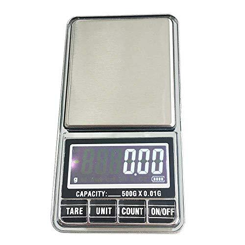 TEEPAO Goldwaage 001g, Eichgewichte Feinwaage mit USB, Tara-Funktion, 6 Einheiten Konvertierung, Grammwaage, Ideal Zum Messen von Schmuck, Briefmarken(Schutzhülle, Auto-Off)