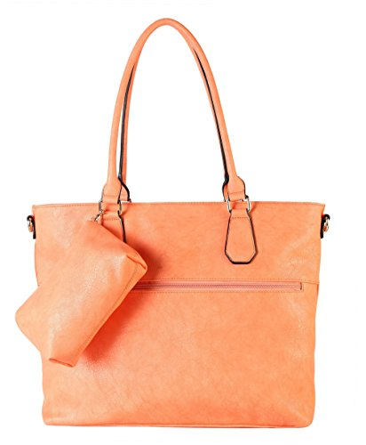 diophy-diaper-bag-pu-leather-weekender-extra-large-tote-with-baby-changing-pad-orange