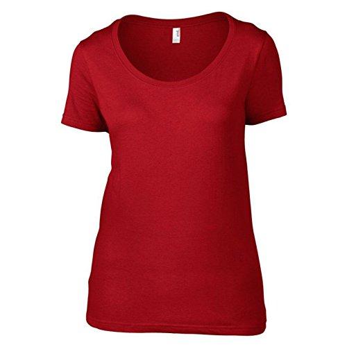 Anvil Damen Modern T-Shirt Rot