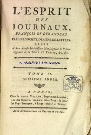 ESPRIT DES JOURNAUX (L') du 01/02/1787