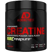 Preisvergleich für Creapure™ CREATINE Monohydrat Pulver von ADDICTED® • Kreatinmonohydrat - pure Energy für die Muskeln • Kreatin...