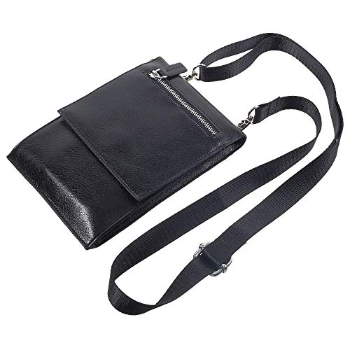 cf50c56c DFV mobile - Case Pocket Shoulder Bag with Lanyard for Tablet and  Smartphone with Magnetic Closure