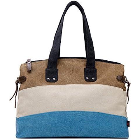 Swesy nuovo modo strisce Women della tela spalla della borsa