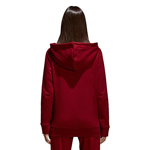 adidas Damen Kapuzenpullover Trefoil Collegiate Burgundy