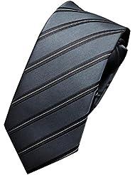 NiSeng Casual Corbata Hombres 5.5 cm Ancho Lazo de Cremallera Matrimonio Fiesta Boda Flaco Lazo Corbatas Estrechas Multicolor