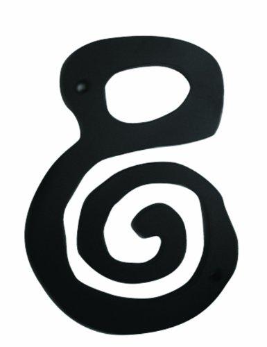m-bl Scroll schwarz 4-Zoll Nr. 8Pull ()