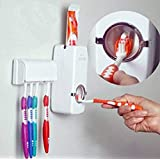 Jashn's Toothpaste Dispenser Automatic with 5 Toothbrush Holder