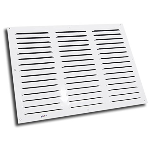 Lüftungsgitter LG-4030 W Abluftgitter Alu Weiß 400 x 300 mm Lamellengitter