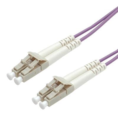 VALUE Cordon fibre optique LC-LC - câble FO - câble patch OM4 Duplex en violet - 5 m par VALUE