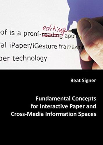 Preisvergleich Produktbild Fundamental Concepts for Interactive Paper and Cross-Media Information Spaces