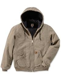 Carhartt Active Jacket J130 Veste matelassée pour Homme en Flanelle doublée Grise (Sandstone)