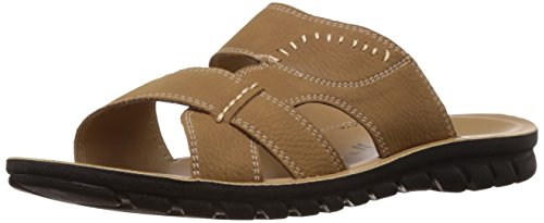 FLS (By Franco Leone) Men's Beige Sandal And Floaters - 7.5 UK/41 EU  available at amazon for Rs.314