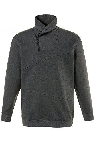 JP 1880 Herren große Größen bis 7XL   Sweatshirt mit Schalkragen   Sweater, Pullover, Hoodie   Outdoor, Zipper, Rippbund   grau, anthrazit   anthrazit-Melange 7XL 711372 11-7XL